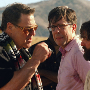 """(L-r) JUSTIN BARTHA as Doug, JOHN GOODMAN as Marshall, ED HELMS as Stu, ZACH GALIFIANAKIS as Alan and BRADLEY COOPER as Phil in Warner Bros. Pictures' and Legendary Pictures' comedy """"THE HANGOVER PART III,"""" a Warner Bros. Pictures release."""