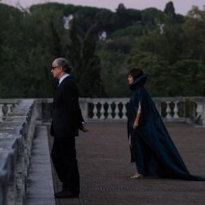 """SET DEL FILM """"LA GRANDE BELLEZZA"""" DI PAOLO SORRENTINO. NELLA FOTO SABRINA FERILLI E TONI SERVILLO . FOTO DI GIANNI FIORITO"""