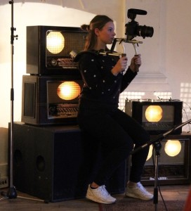 Op de set_Ik zie haar